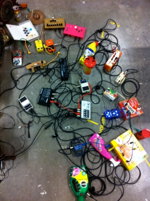Nicky Keogh synth installation 2013